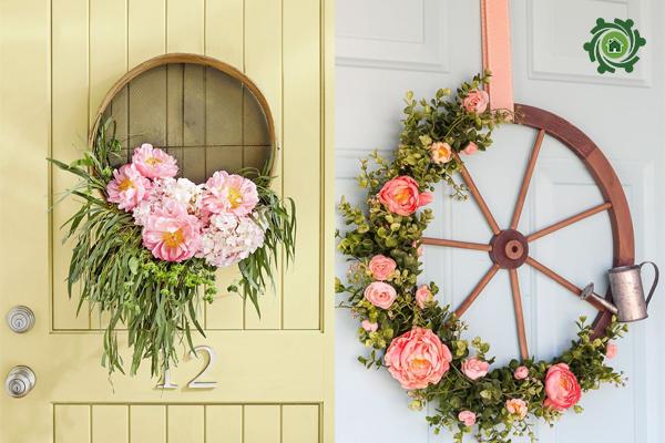5 phút thủ công trang trí nhà với rỏ hoa hình bánh xe