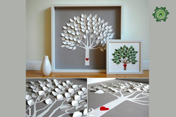 5 phút thủ công trang trí nhà với tranh Handmade treo tường