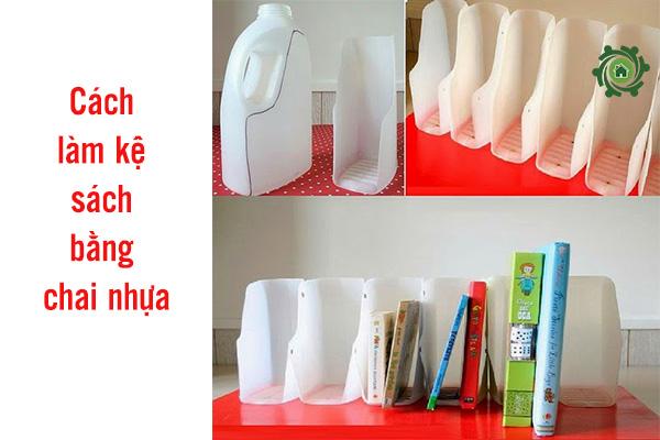 Cách làm đồ trang trí bàn học bằng chai nhựa
