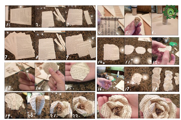 Cách Làm đồ trang trí bàn học bằng giấy báo cũ