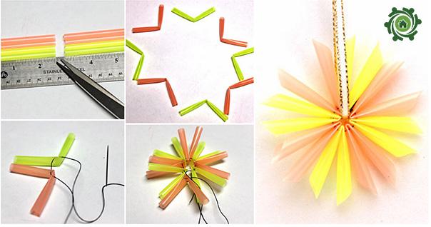 Cách Làm đồ trang trí bàn học bằng ống hút