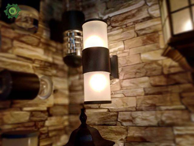 Mẫu đèn trang trí cột nhà hình trụ