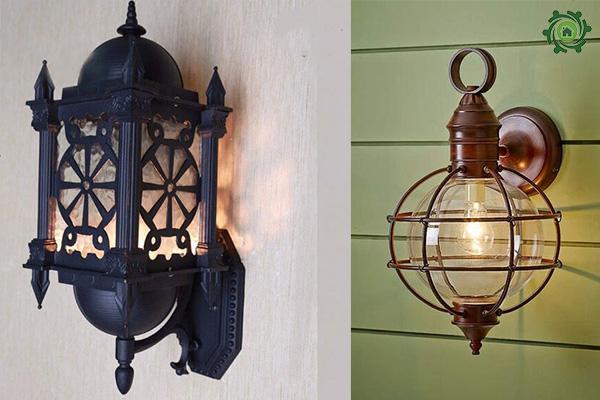 Mẫu đèn trang trí cột nhà cổ điển