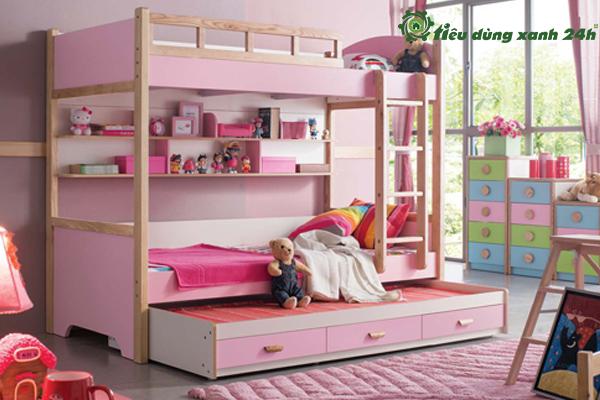 Mẫu giường ngủ cho bé gái 10 tuổi được yêu thích