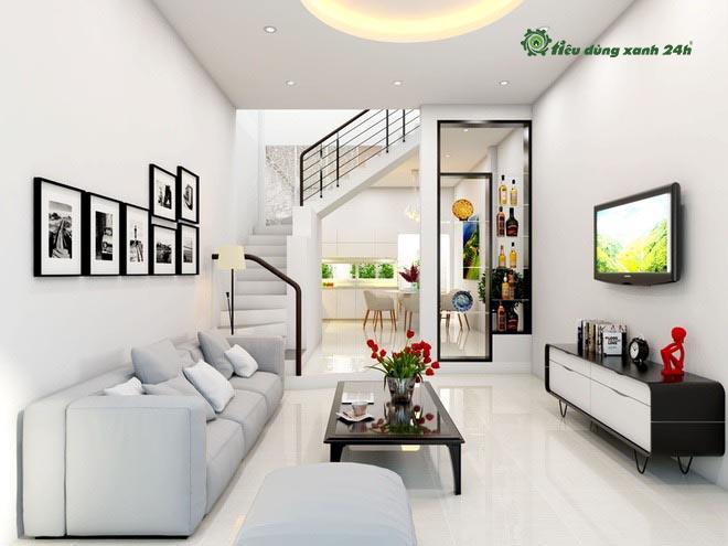 Phòng khách không nhất thiết phải cầu kỳ và nhiều nội thất mới là đẹp.