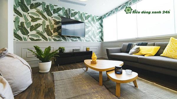 mẫu trang trí phòng khách nhà ống đẹp