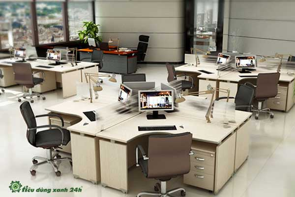 Trang trí phòng làm việc công sở bàn làm việc và đồ nội thất linh hoạt