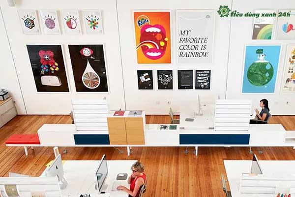Trang trí phòng làm việc công sở bằng tranh nghệ thuật