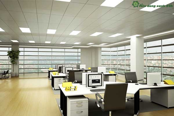 Trang trí phòng làm việc công sở Không gian văn phòng có đủ ánh sáng