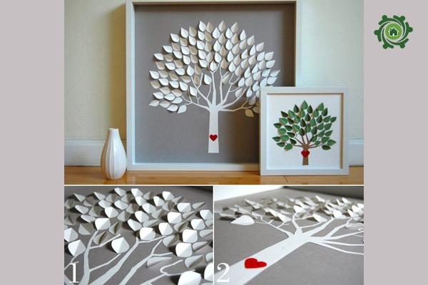 Tự trang trí phòng ngủ handmade