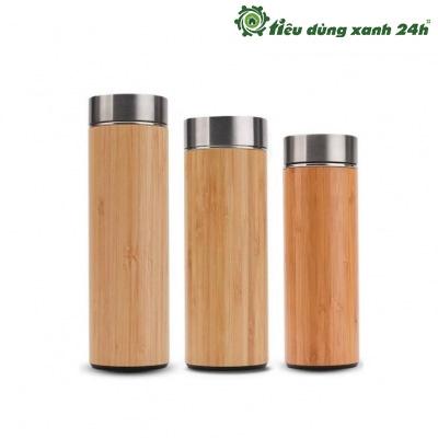 Bình giữ nhiệt vỏ tre - BT01