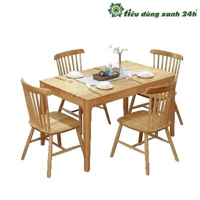 Bộ bàn ghế ăn gỗ sồi - BGA05