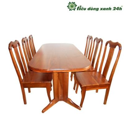Bộ bàn ghế ăn Oval - BGA01