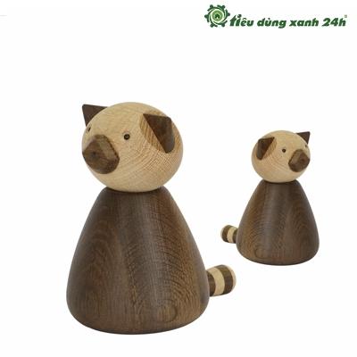Gấu Panda gỗ trang trí nhà đẹp - DTT01