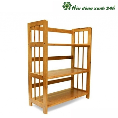 Kệ tầng gỗ cao su - Mã KT02