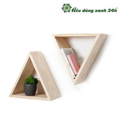 Kệ gỗ treo tường tam giác
