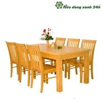 Bộ bàn ghế ăn gỗ - BGA04