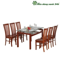 Bộ bàn ghế ăn gỗ tự nhiên - BGA02