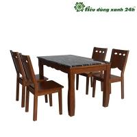 Bộ bàn ghế ăn gỗ tự nhiên - BGA03
