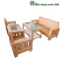 Bộ bàn ghế gỗ sồi BG-04