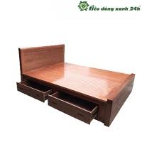 Giường gỗ xoan đào ngăn kéo - G01