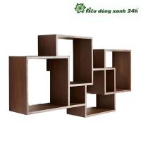 Kệ gỗ treo tường hình vuông