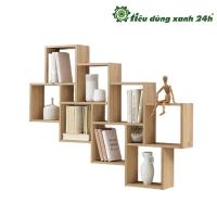 Kệ gỗ treo tường hình vuông K-03