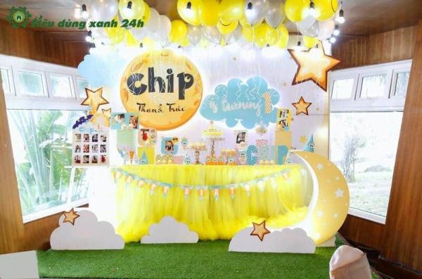 Trang trí tiệc sinh nhật tại nhà - Đơn giản mà đẹp cho bé