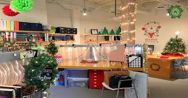 Gợi ý trang trí Noel văn phòng công ty ĐƠN GIẢN, SÁNG TẠO