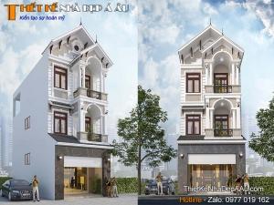 Mẫu nhà phố 3 tầng mặt tiền 5m ấn tượng nhất 2021